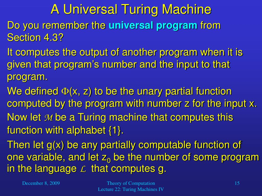 A Universal Turing Machine