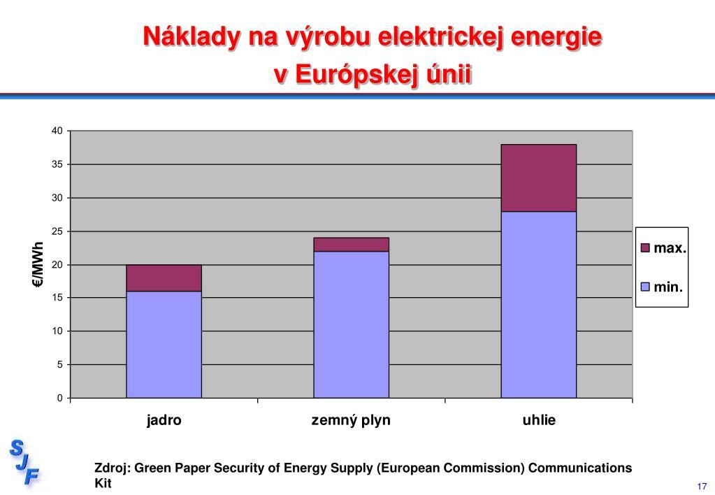 Náklady na výrobu elektrickej energie