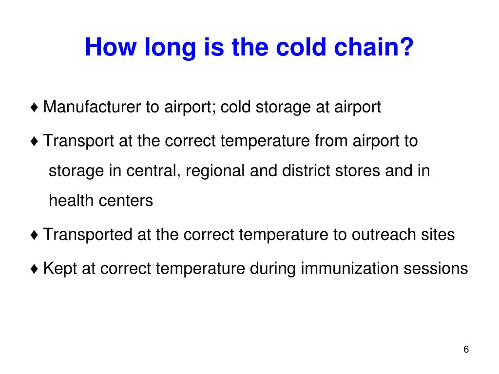 How long is the cold chain?
