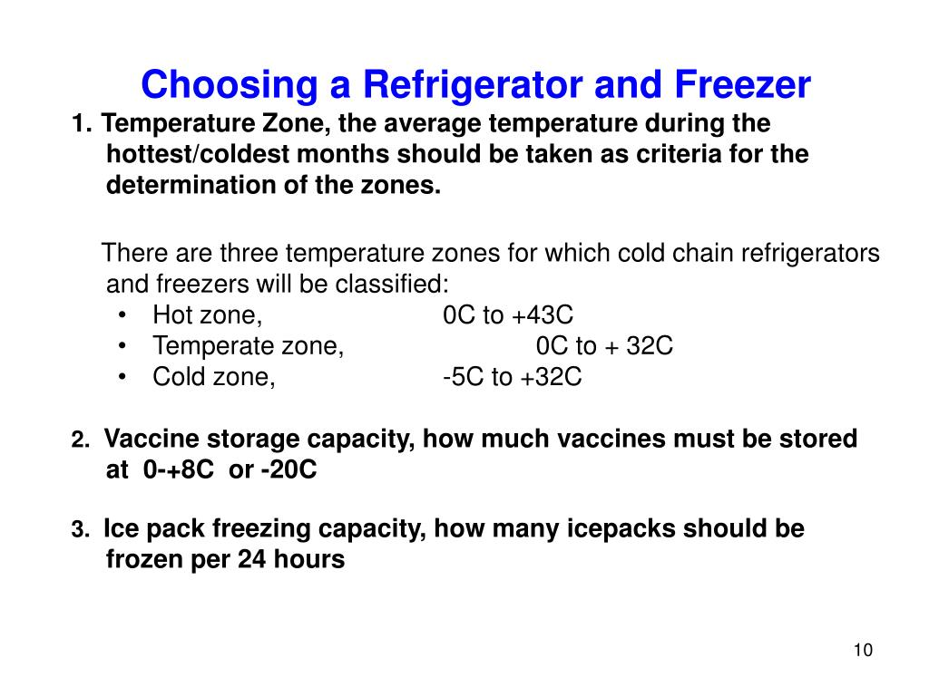 Choosing a Refrigerator and Freezer