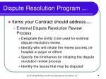 dispute resolution program con t6