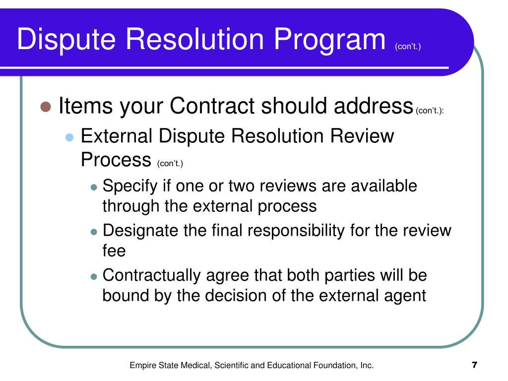Dispute Resolution Program
