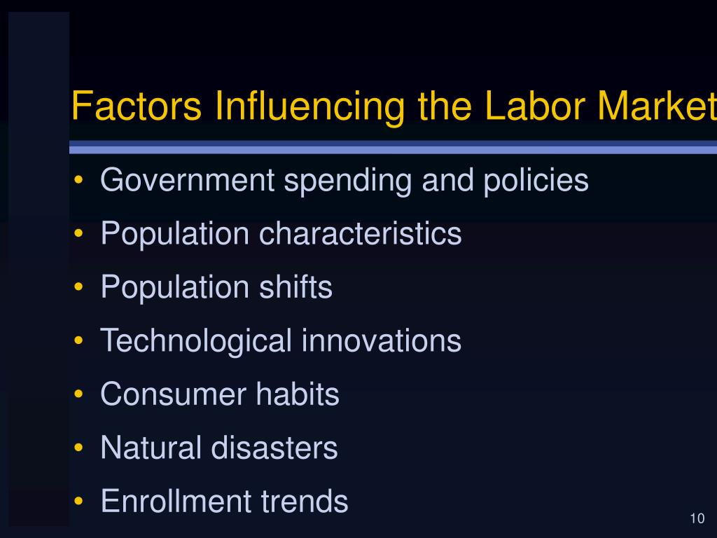Factors Influencing the Labor Market