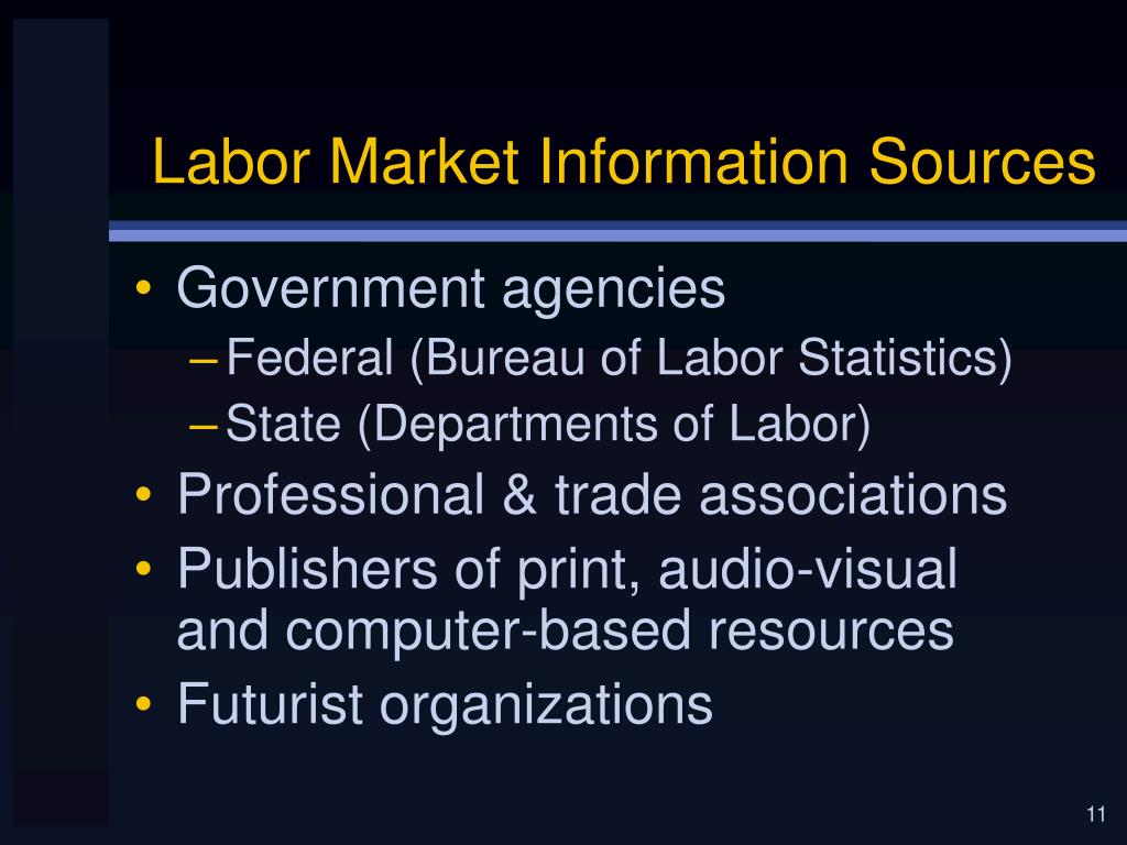 Labor Market Information Sources