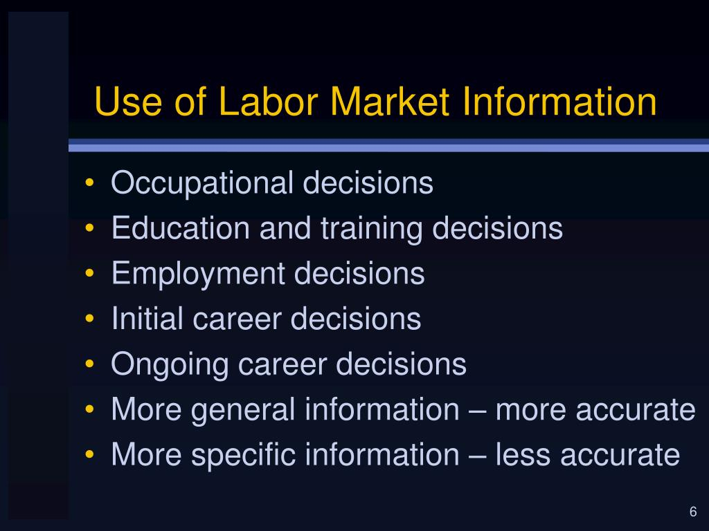 Use of Labor Market Information