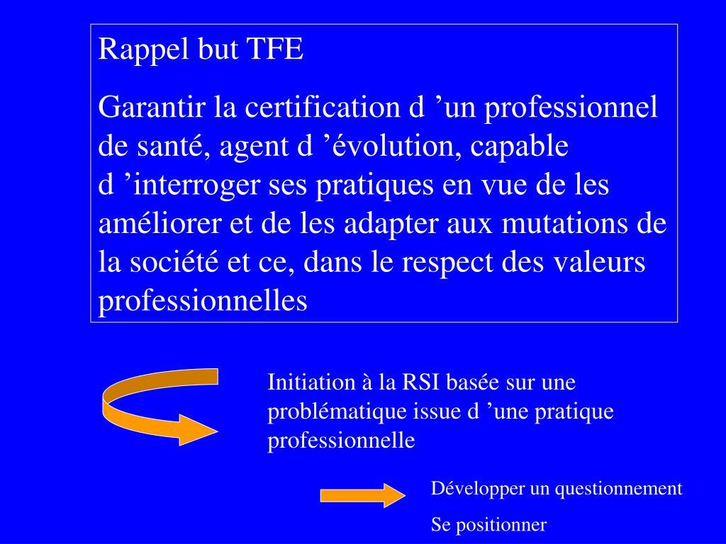 Rappel but TFE