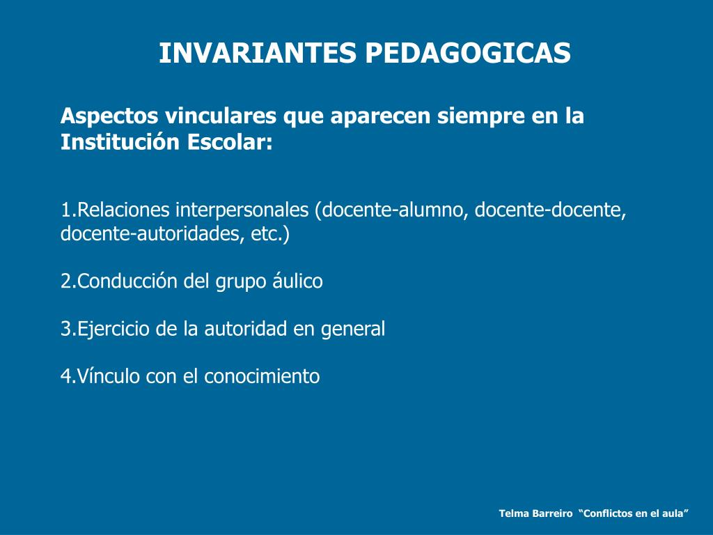 INVARIANTES PEDAGOGICAS