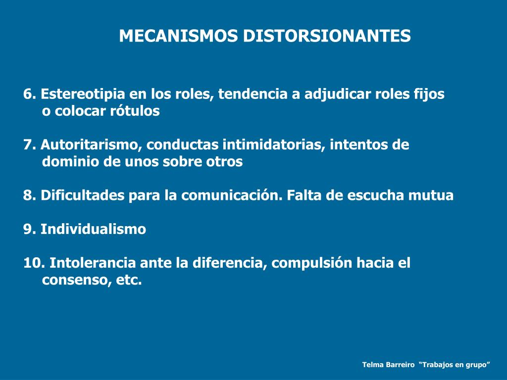 MECANISMOS DISTORSIONANTES