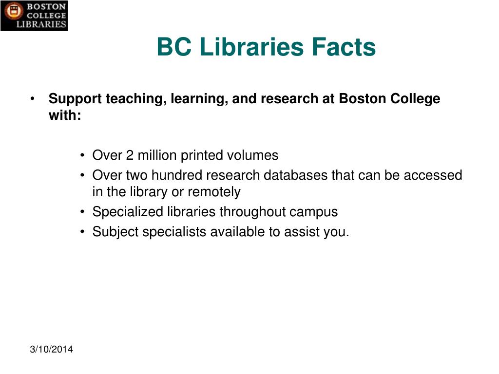 BC Libraries Facts