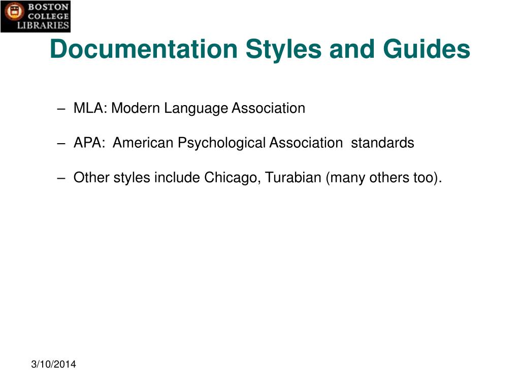 Documentation Styles and Guides