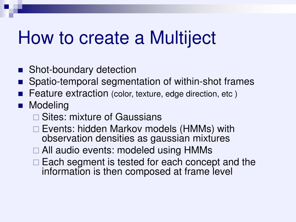 How to create a Multiject
