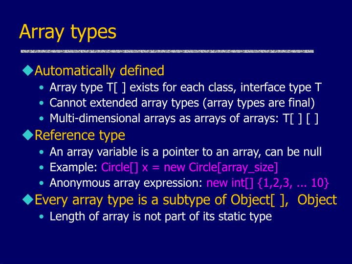 Array types