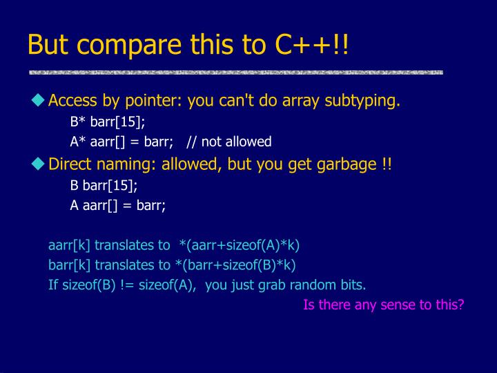 But compare this to C++!!