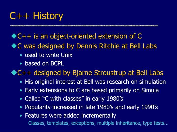 C++ History