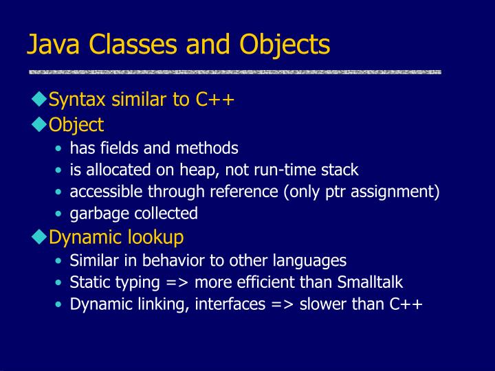 Java Classes and Objects