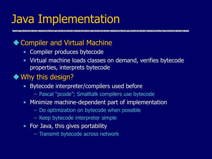 Java Implementation