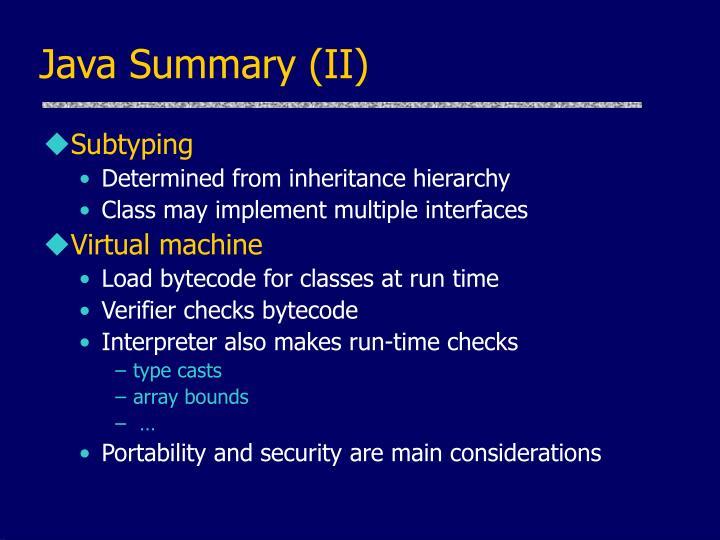 Java Summary (II)