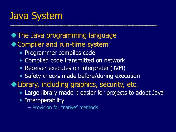 Java System