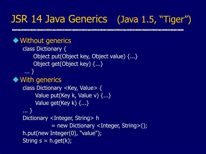 JSR 14 Java Generics