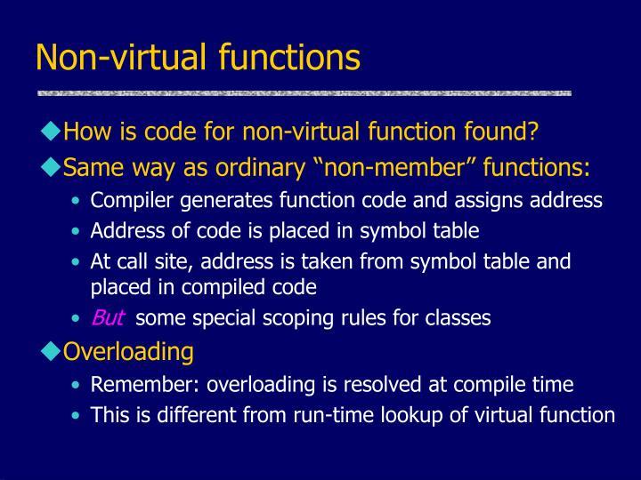Non-virtual functions