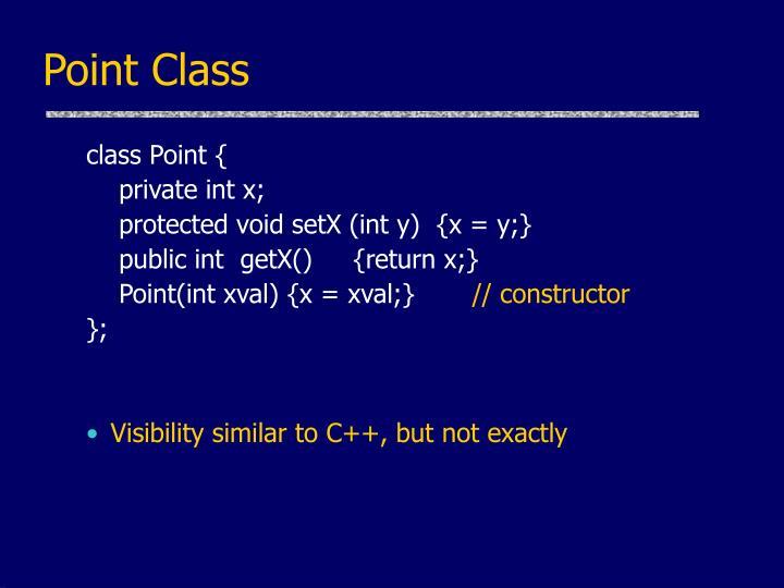 Point Class