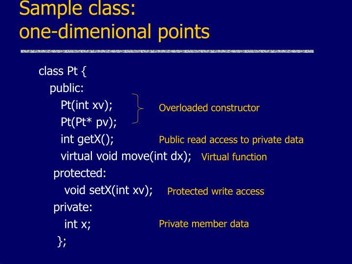 Sample class: