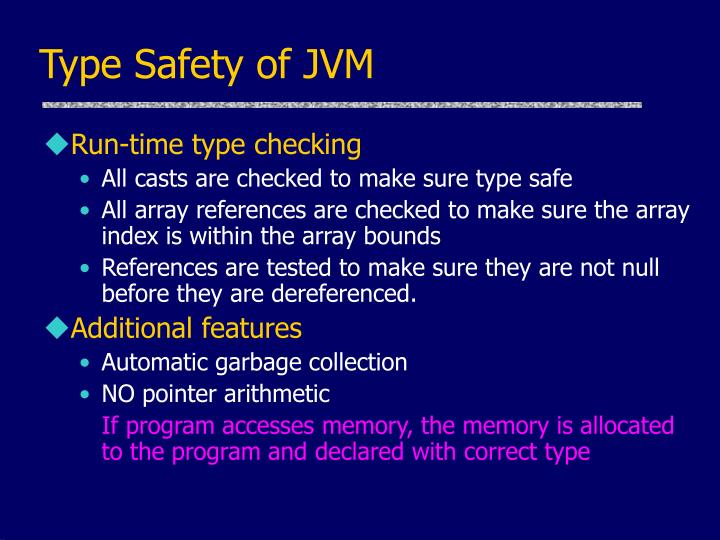 Type Safety of JVM