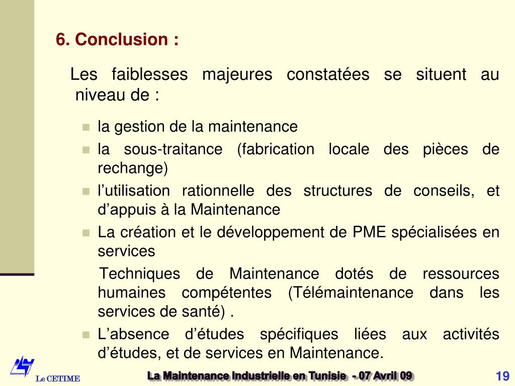 6. Conclusion :