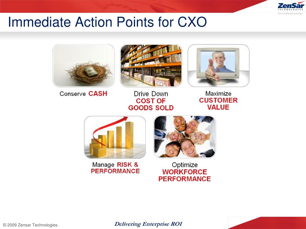 Immediate Action Points for CXO