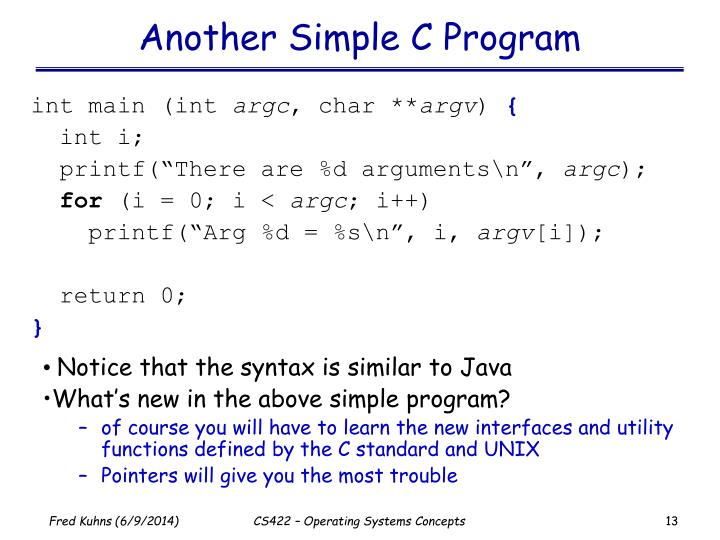 Another Simple C Program