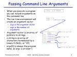 passing command line arguments