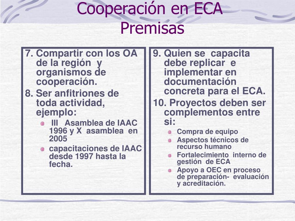 7. Compartir con los OA de la región  y organismos de cooperación.