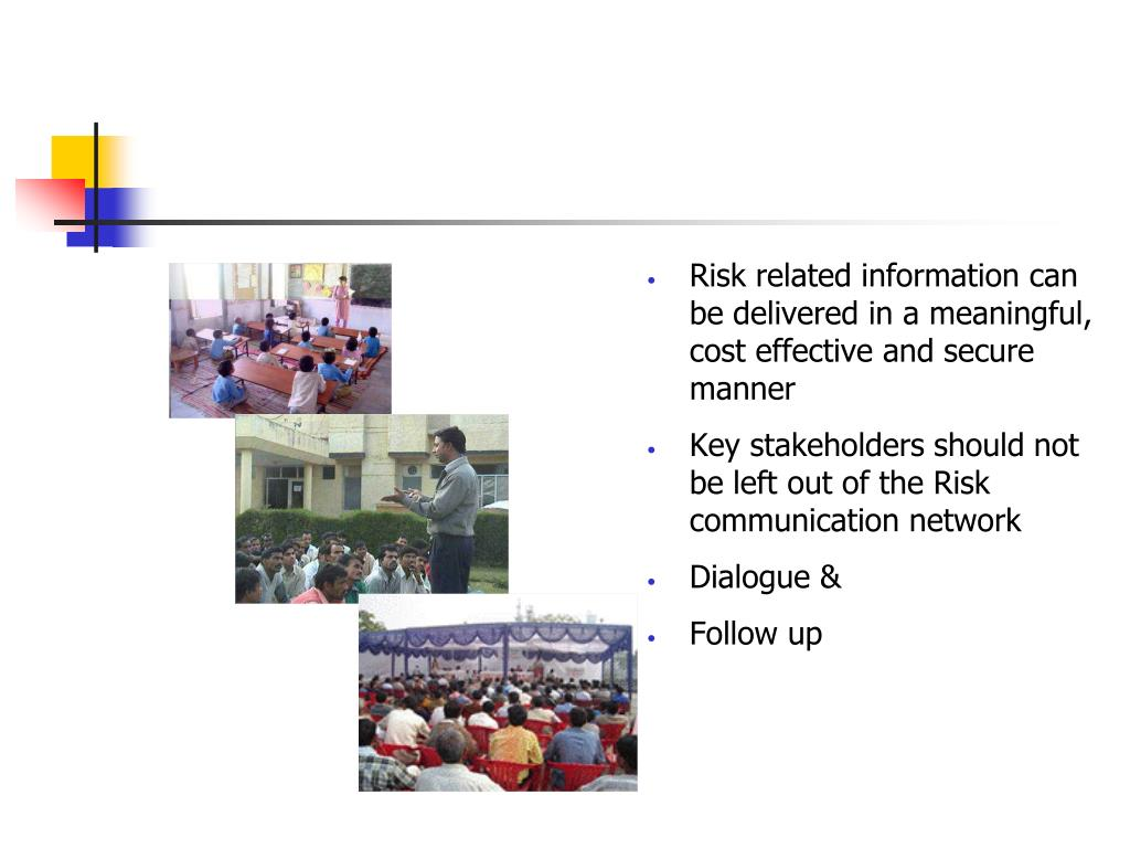 Risk related information can be delivered in a meaningful, cost effective and secure manner