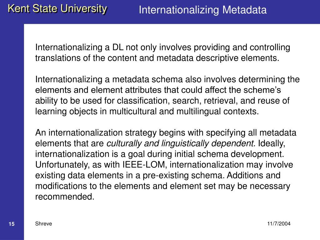Internationalizing Metadata