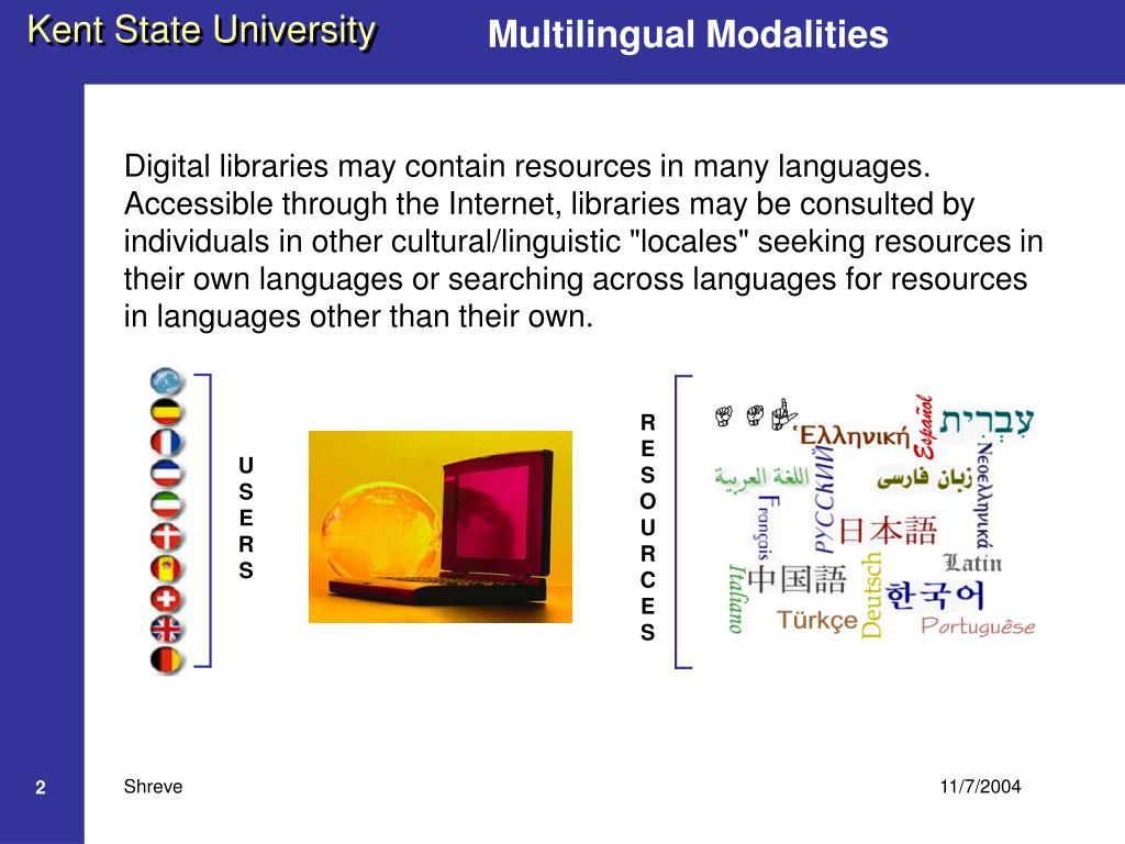 Multilingual Modalities
