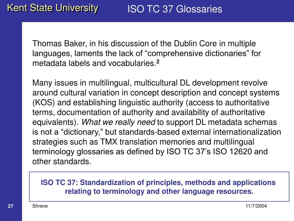 ISO TC 37 Glossaries