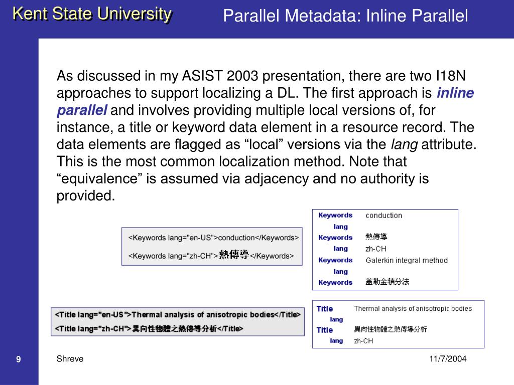 Parallel Metadata: Inline Parallel