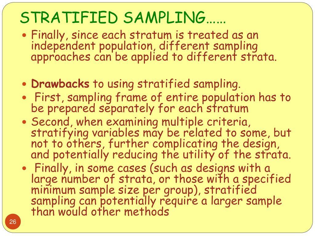 stratified sampling Sample - free download as powerpoint presentation (ppt / pptx), pdf file (pdf), text file (txt) or view presentation slides online.