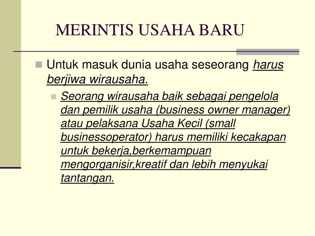 MERINTIS USAHA BARU