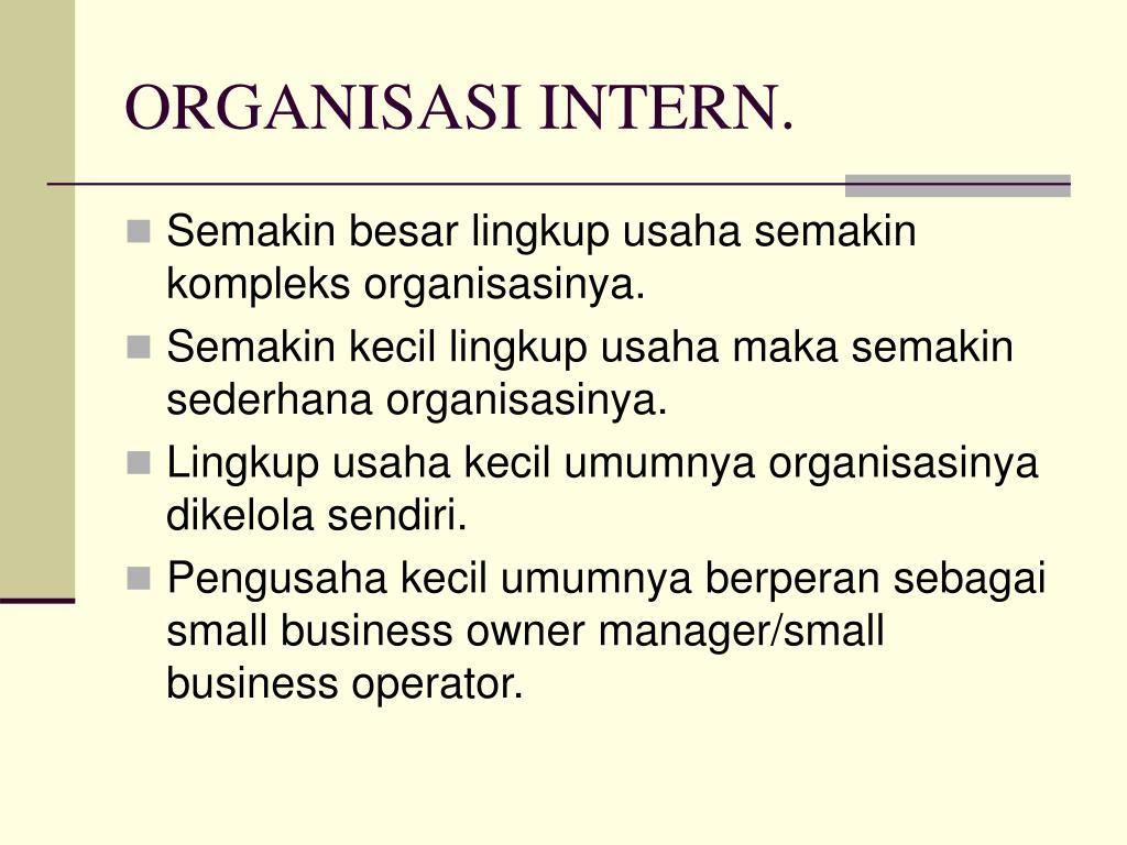 ORGANISASI INTERN.