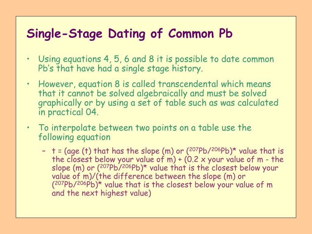 Single-Stage Dating of Common Pb