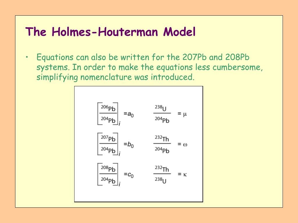 The Holmes-Houterman Model