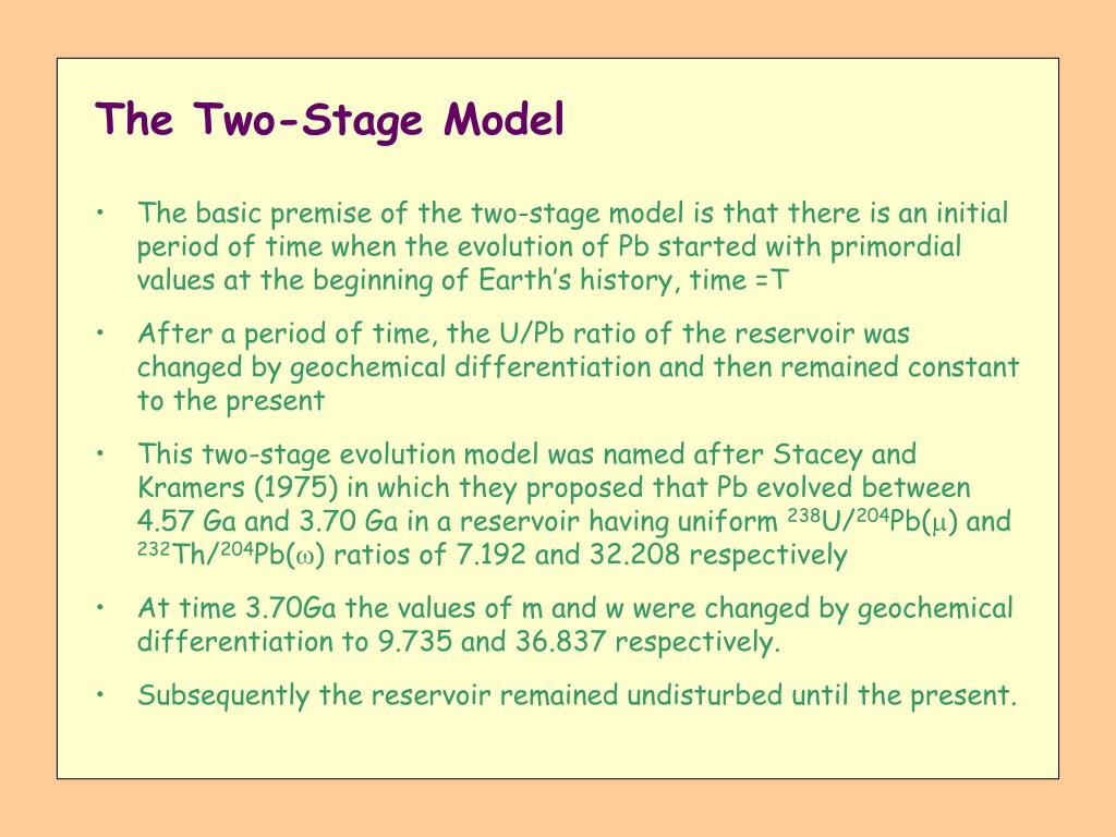 The Two-Stage Model