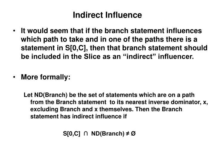 Indirect Influence