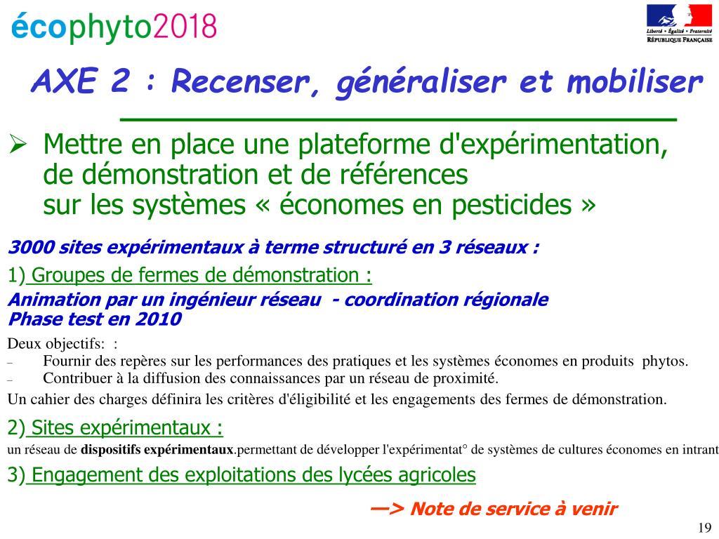 Mettre en place une plateforme d'expérimentation,                  de démonstration et de références                                             sur les systèmes «économes en pesticides»