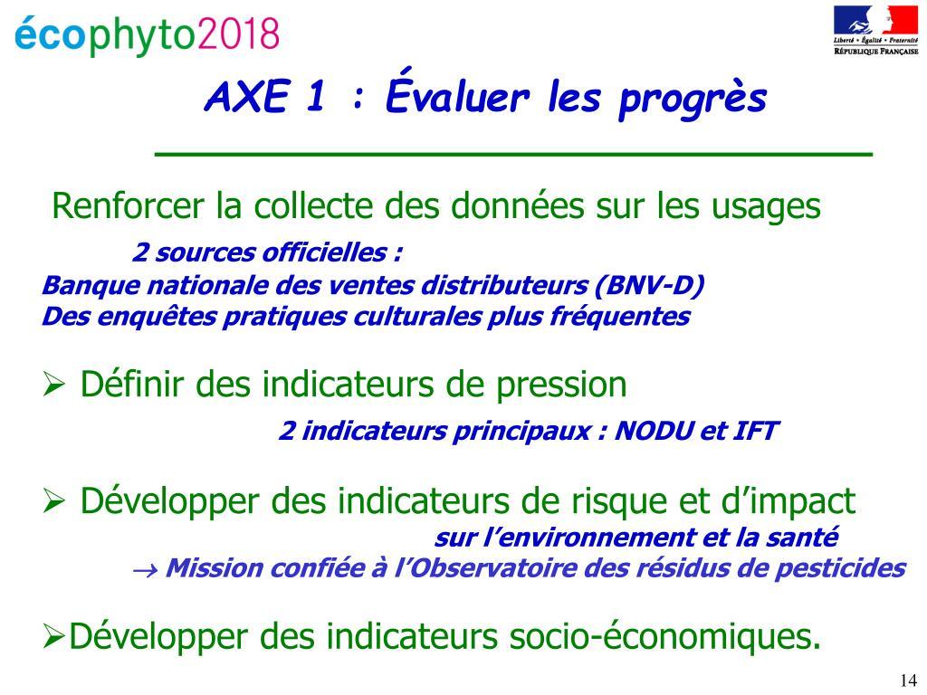 AXE 1 : Évaluer les progrès