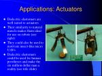 applications actuators