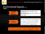 environmental aspects contd