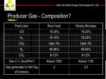 producer gas composition