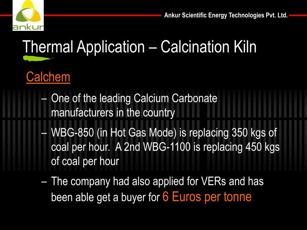 Thermal Application – Calcination Kiln